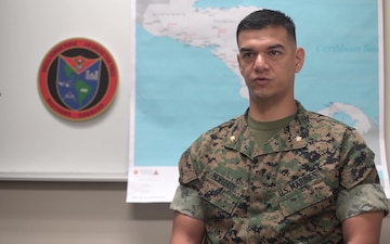 U.S. Marine task force holds opening ceremony for crisis response deployment (Interview – Newberry)