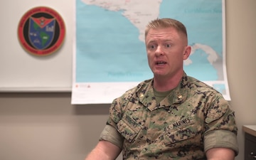 U.S. Marine task force holds opening ceremony for crisis response deployment (Interview – Hudgins)