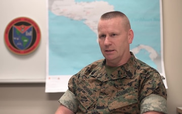 U.S. Marine task force holds opening ceremony for crisis response deployment (Interview – Murphy)