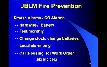 JBLM HOME FIRE PREVENTION