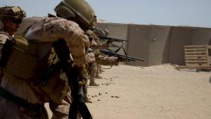 Shotgun and Rifle Combat Marksmanship Range B-Roll