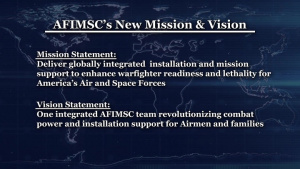 AFIMSC's New Mission and Vision