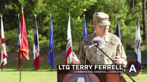 Maj Gen David Hill, Deputy Commanding General USARCENT, Departure Ceremony