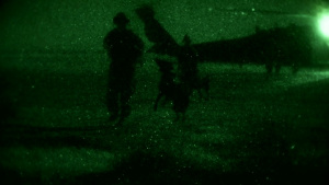 US and Norwegian Coalition Blackhawk flights and night live-fire exercise