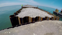 TOUR of the LORAIN HARBOR breakwater repair project!