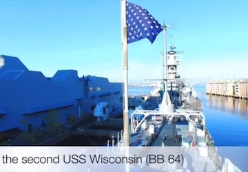 Battleship Wisconsin Silver Segment for Navy Week Madison 2020: Version Two