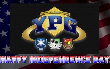 Happy Independence Day from U.S. Army Yuma Proving Ground