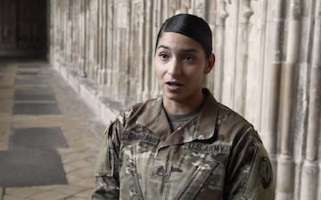 UK based US Army Soldiers visit Gloucester Cathedral ahead of July 4th 3of3