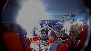 Coast Guard medevacs man suffering from leg laceration 34 miles off Oregon Inlet, North Carolina laceration 34 miles off Oregon Inlet, North Carolina