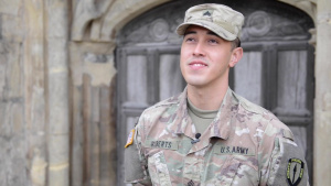 Gloucester Cathedral chimes 'Star-Spangled Banner' on July 4th for American NATO troops (1of3)