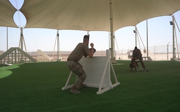 Military Working Dog/Handlers at AUAB Broll