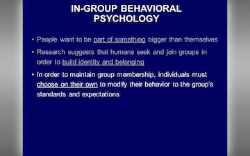 In Group Behavioral Psychology