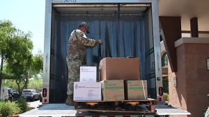 AZ National Guard delivers PPE to local clinic for COVID Testing