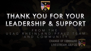 USAG RP Change of Command Livestream promotion