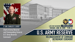LTG Luckey Relinquishes command of U.S. Army Reserve