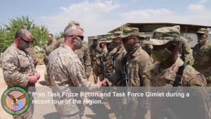USCENTCOM commander visits troops during Middle East trip.