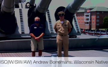 Battleship Wisconsin Shout-out for Navy Week Madison 2020