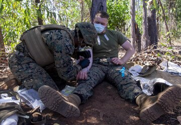 "Creating ""Valkyries""   Corpsmen of MRF - D's GCE kick blood transfusion prac app"