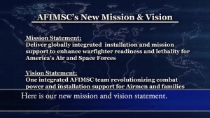 AFIMSC's New Mission and Vision (with Subtitles)