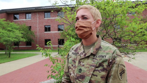 Interview with a Non-commissioned Officer of 432nd CA Battalion as the unit preps for overseas