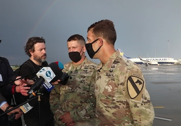 US Soldiers arrive in Poland for Defender Europe