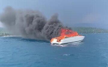 Coast Guard, good Samaritan rescue man from burning vessel on Lake Tahoe