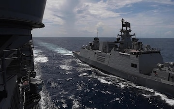 Nimitz Carrier Strike Group Conducts Operations With Indian Navy