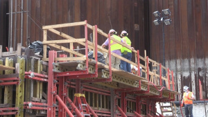 Crews prepare forms, install reinforcing steel at Chickamauga Lock Replacement Project