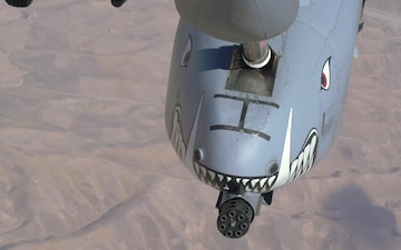 Tankers Conduct Air-to-Air Refueling With A-10s