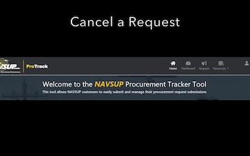 Cancel and Request in ProTrack