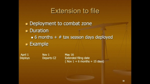 Legal Services Support Section-East: Pre-Deployment Brief - Tax