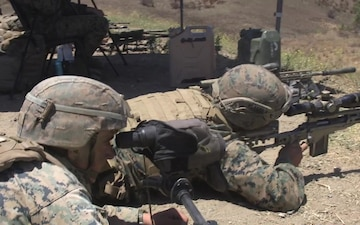 B-roll: Marines engage targets during Scout Sniper Course