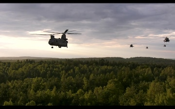 12th CAB conducts dual door gunnery during aerial gunnery.