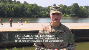 101st ABN DIV Engineers and USACE Nashville District partner to load at Lock C for JRTC Rotation