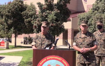 I MEF Press Conference, Response to a training accident from Camp Pendleton, Calif.