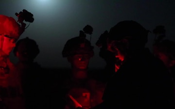 The 82nd Airborne provide support for AC-130 Live Fire at Al Asad Air Base
