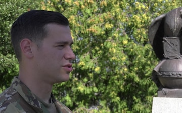 A 12th CAB Soldier receives USAREUR's SHARP Advocate of the Year award.