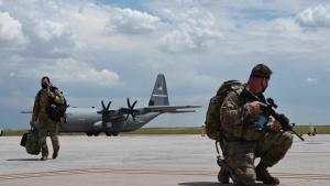 41st AS traverses mountainous terrain for pre-deployment training