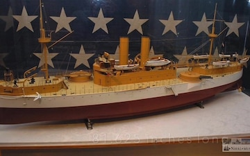 Navy Week Portland-Maine Shout-out featuring builder's model of USS Maine (ACR 1)