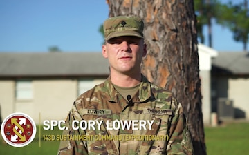 Working in a COVID-19 environment with Spc. Cory Lowery
