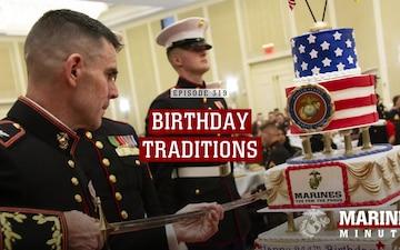 Marine Minute: Birthday Traditions