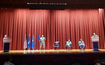 960th CW change of command ceremony