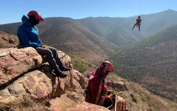 Coast Guard Sector San Diego conducts cliff-rescue training in Otay Mountains