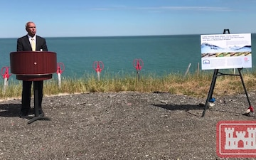 Lake County RWPS revetment ribbon cutting ceremony