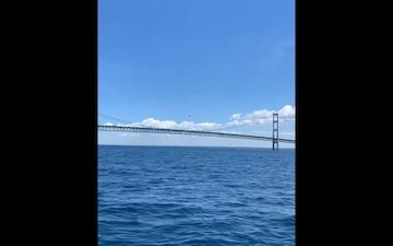 Detectives seek help finding pilot who flew under Mackinac Bridge