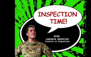 Inspection Time with Captain Kapocius Director of Inspections