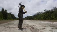 Chop and Drag | TF KM20 Combat Engineers repair airfield in Peleliu