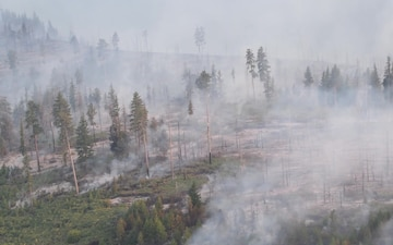 Oregon Army National Guard assists with Eastern Oregon forest firefighting operations