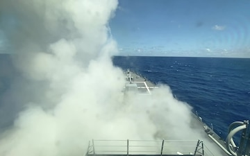 USS Chung-Hoon Missile Launch and Five-Inch Shoot - RIMPAC 2020