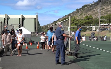 Hawaii National Guard assist the City and County of Honolulu in the COVID-19 Pandemic testing surge